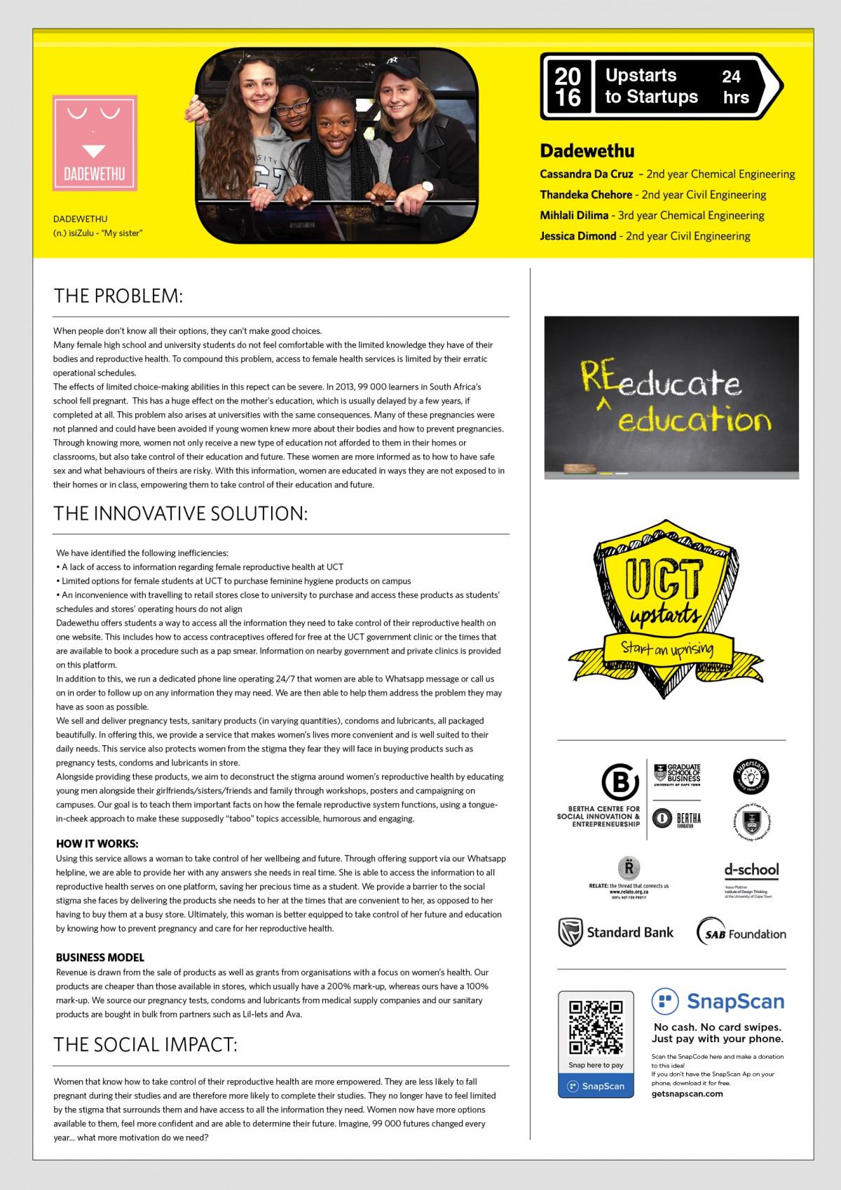 Dadewethu Team Expo Poster