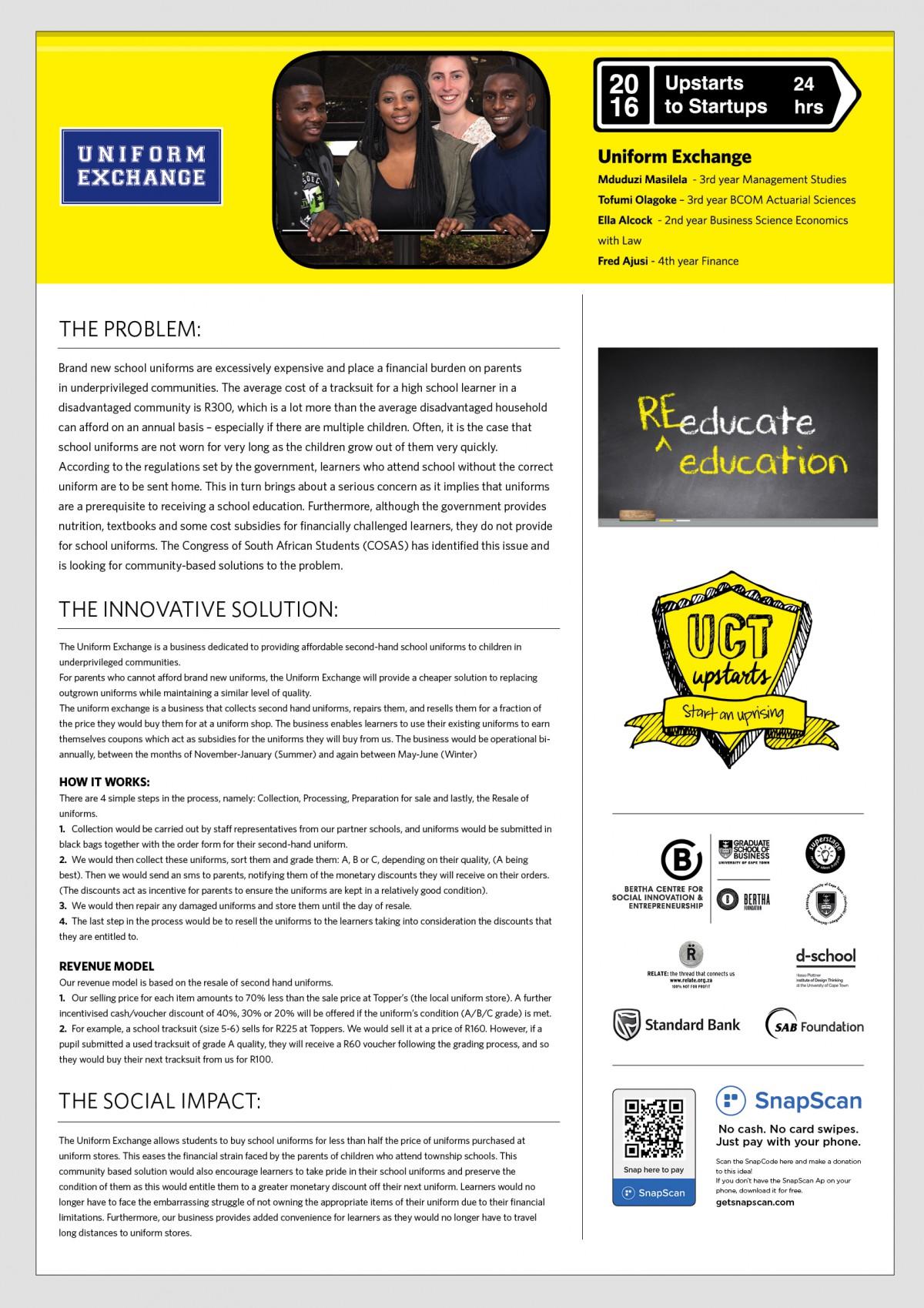 Uniform Exchange Team Expo Poster